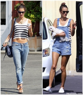 Alessandra-Ambrosio-street-style-2014-MINKPINK-striped-crop-Tank-boyfriend-jeansChristian-Louboutin-Sandals-denim-Overallwhite-Sneakers-mulberry-Alexa